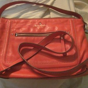 kate spade 2 handle red leather crossbosy preowned